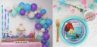 mermaid party ideas mermaid party ideas disney party ideas at birthday in a box