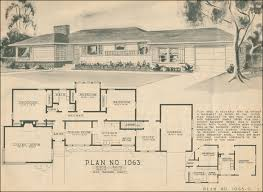 mid century ranch floor plans 1950 ranch style house plans homes floor plans