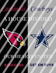 Dallas Cowboys Wall Decor Cardinals Cowboys House Divided Wall Decor Sign Instant Download