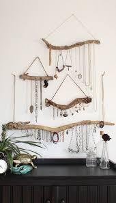 necklace storage display images Driftwood jewelry organizer made to order custom jewelry storage jpg