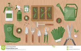 Gardening Tools gardening tools and equipment stock vector image 52746350