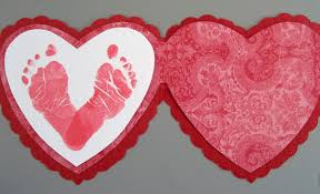 preschool crafts for kids valentine u0027s day footprint card craft