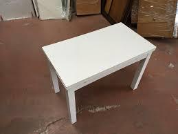 ikea masa beyaz ikea bjursta açılabilen ufak masa kullanılmış yemek masası