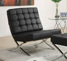 Black Leather Accent Chair Accent Chair Item 902181