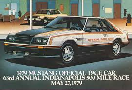 1979 ford mustang pace car post card advertising the 1979 ford mustang pace car