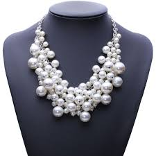 chunky pearl bib necklace images Clustered pearl bib necklace velvet box necklaces jpg