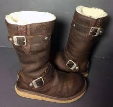 womens kensington ugg boots size 9 frye 77975 zip glazed black patent vintage