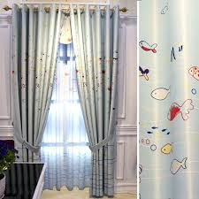Fish Curtains The Cutest Fish Window Curtains In Blue Color