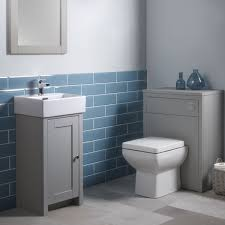 Bathroom Vanity Unit With Basin And Toilet Tavistock Lansdown Vanity Unit Basin Pebble Grey 400 Walnut Sink