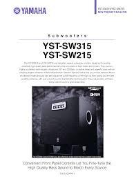 ub 04 manual download free pdf for yamaha yst sw315 subwoofer manual