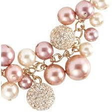pearl rose necklace images Rose gold pearl and fireball necklace vicenza polyvore out=j