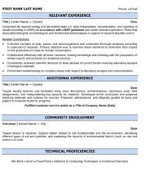Example Of Resume Format by Laboratory Analyst Resume Sample U0026 Template