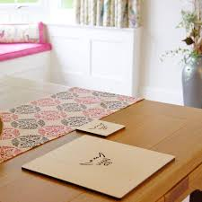 set of four or six highland cow placemats by my blue dog