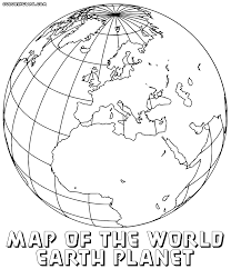 Printable World Map Cartoons Printable World Map Coloring Pages For Kids Best Page