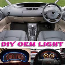 renault espace 2015 interior car atmosphere light flexible neon light el wire interior light