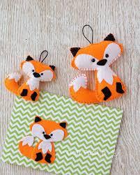 free pattern felt fox ornament sewing