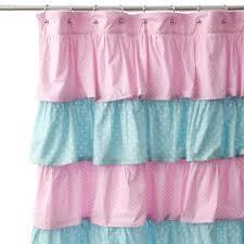 Vertical Ruffle Curtains by Shower Curtains Ruffle Shower Curtain Pink Bathroom Ideas Light