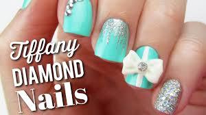 tiffany blue diamond nails big news youtube