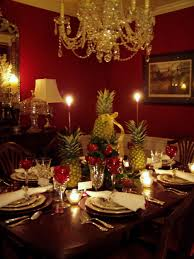 Holiday Table Decorating Ideas Rounded Dining Table Decor With White Lace Table Linen Combined