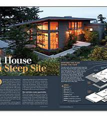 steep hillside house plans modern steeply hillside sloping house design idea steep
