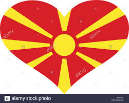 Macedonian Flag Macedonia Flag Heart Stock Vector Art U0026 Illustration Vector Image