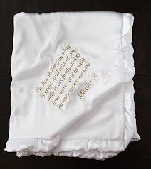 baptism blanket personalized baby blanket embroidered blanket personalized baptism blanket