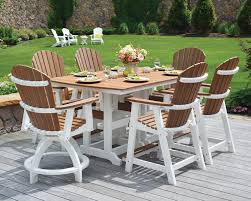 white outdoor table and chairs poly table sets green acres outdoor living