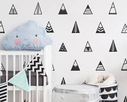 mountain wall decals nursery decals triangle decals zoom