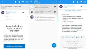 android outlook app microsoft has been sending outlook ads to new users of android s