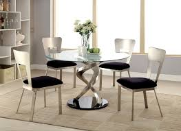 chrome round dining table black round dining table sneakergreet com and chairs loversiq