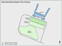 tulsa airport map tulsa airport parking tul airport term parking rates map