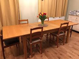solid wood extendable dining table reduced ikea bjursta solid wood extendable dining table in capel