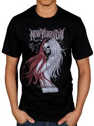 new year t shirts official new years day hair skull t shirt costello