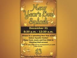 new years in tn new year s splash tonight at clarksville s indoor aquatic