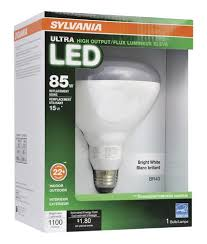 sylvania 85w equivalent dimmable flood bright white br40 led