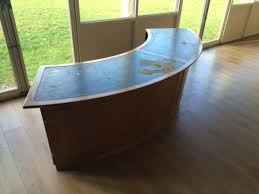 Rounded Reception Desk by Secondhand Hotel Furniture Hotel Reception Quarter Round Desk