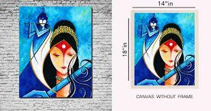 canvas painting without frame radha krishan