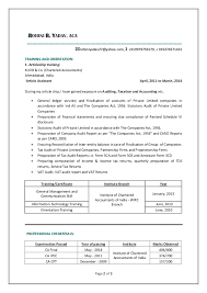 chartered accountant resume cv of a qualified chartered accountant rohini r yadav