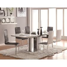 7 piece dining room table sets coaster broderick contemporary 7 piece white dining table set with