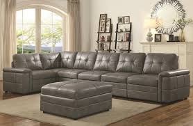 Section Sofa Ellington Modular Sectional Sofa In Grey Leatherette By Coaster