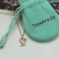 heart pendant necklace tiffany images Tiffany co diamond rose gold heart necklace the jewelry box jpg