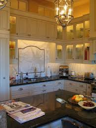 Kitchen Island With Black Granite Top Interior Inspiration Classic Brushed Bronze Lantern Lighting