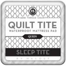 quilt tite waterproof mattress pad from malouf fine linens