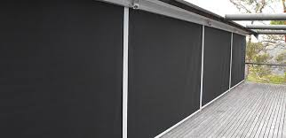 External Awnings Brisbane Outdoor Complete Blockout Straight Drop Roller Awnings T4000