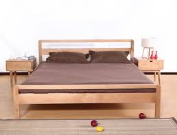solid wood 15 meters back white oak double bed japanese minimalist