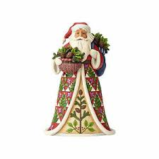 Jim Shore Christmas Ornaments Uk by Jim Shore 2017 Pining For Christmas Pinecone Santa 4058785 Ebay