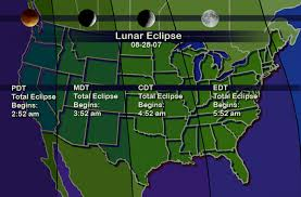 map showing time zones in usa nasa total lunar eclipse draws attention back to the moon