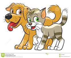 catdog cartoon drawings of dogs and cats cute cat dog cartoon line art