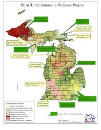 Upper Peninsula Michigan Map by Health Education And Chronic Disease Inter Tribal Council Of