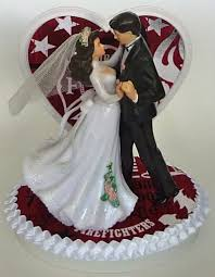 firefighter wedding cake wedding cake topper firefighter fireman department themed